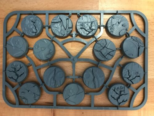 15 x 32mm Shattered Dominion bases one complete sprue Warhammer Age Of Sigmar