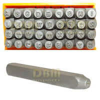 36 Pc Capital Uppercase Letters Numbers Hand Punch Die Stamps Marking 1/8 3mm