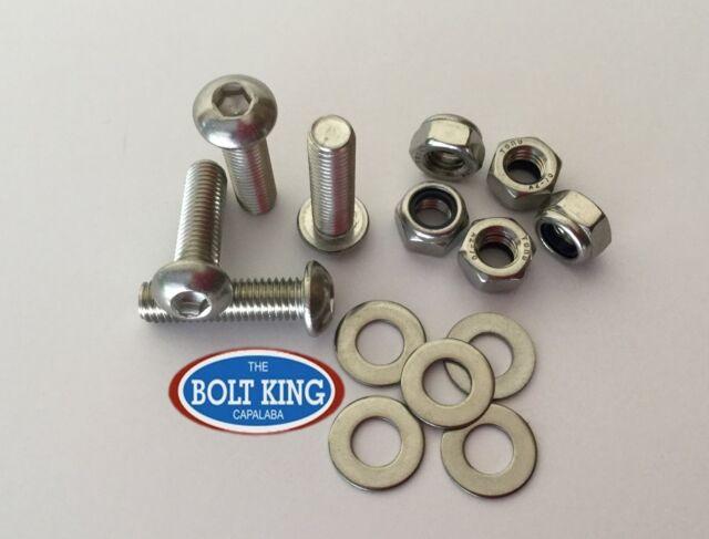 M6 x 55mm Button head socket screw 304 stainless steel kit (QTY-100 bolts)