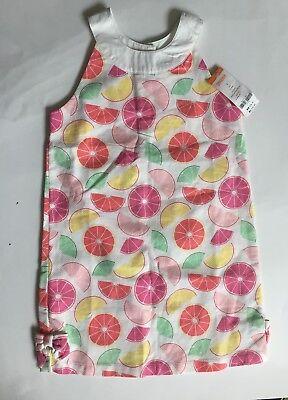 GYMBOREE FRUIT PUNCH WHITE /& YELLOW EYELET KNIT WOVEN DRESS 6 NWT