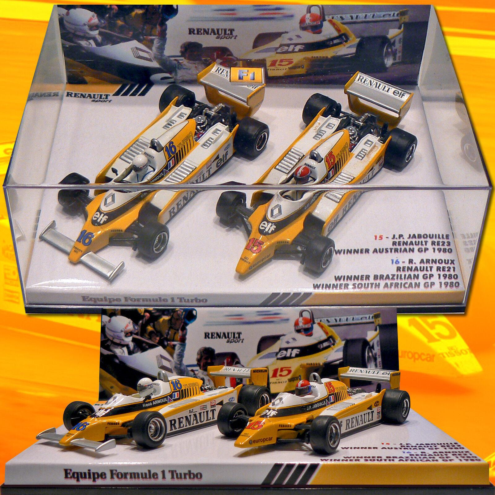 137) Coffret Renault RE20 Jabouille-Arnoux 1980