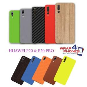 detailed look 20336 15dbf Details about Carbon Leather Wood Skin Wrap Sticker Decal Case Cover Huawei  P20 & P20 PRO