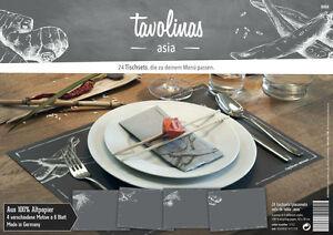 Tavolinas-Papier-Tischset-Asia-schiefer-24-Blatt-individuell-beschriftbar