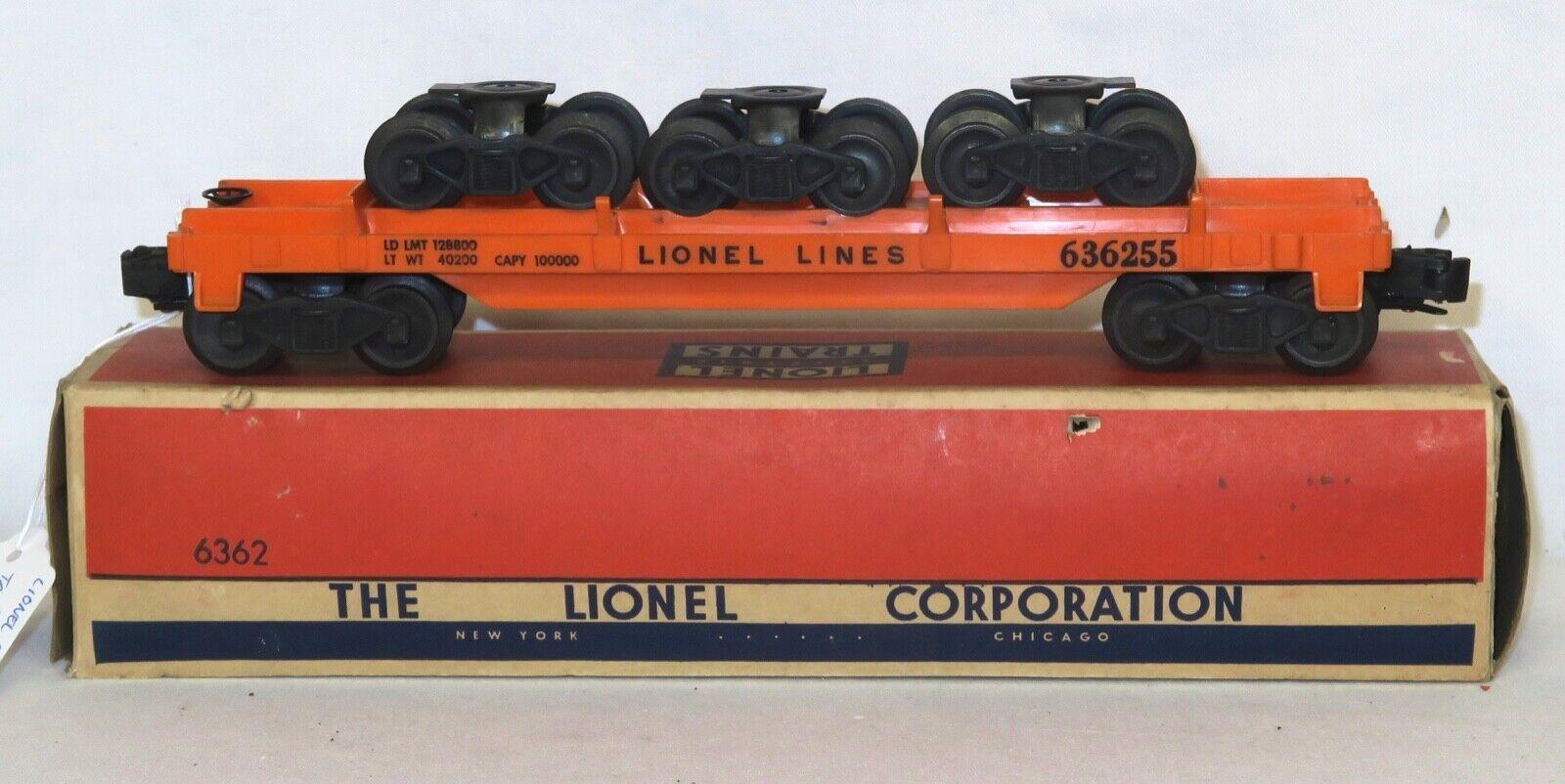 Lionel carro con carril camiones de la posguerra 6362 - 1955-1956 - Caja Original