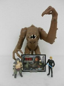 Vintage-Star-Wars-ROTJ-1983-Rancor-Monster-Very-Good-Condition-w-Keeper-amp-Luke