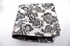 "New 10"" Inches 100% Silk Men's Pocket Square US Paisley"