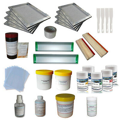 Transparency Film Tape Screen Printing Squeegees Screen Printing Kit Goaup Silk Screen Printing Enthusiast Kit Include Screen Printing Frame with 110 White Mesh