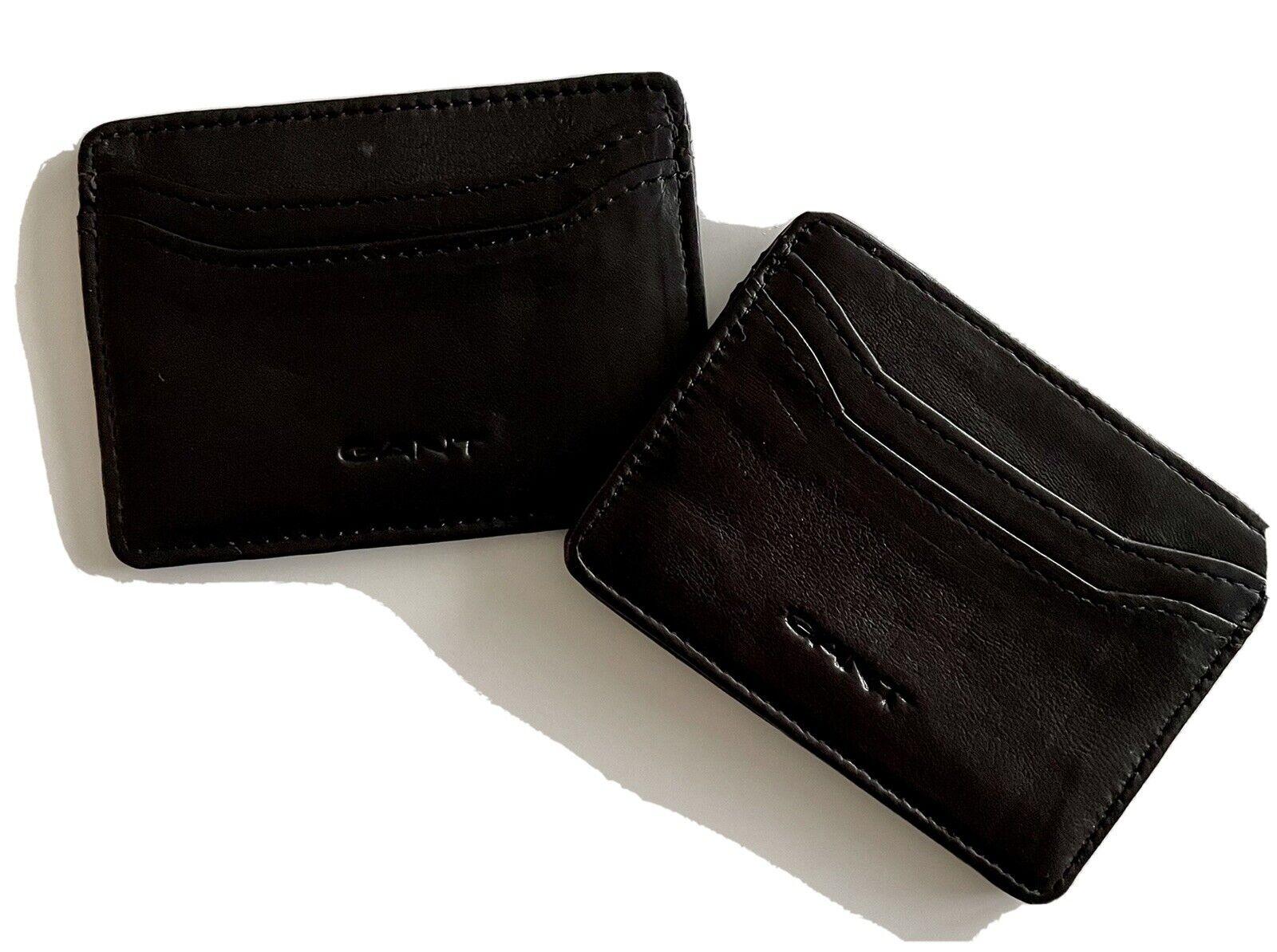 2 GANT Kreditkartenhüllen (schwarz und dunkelbraun)