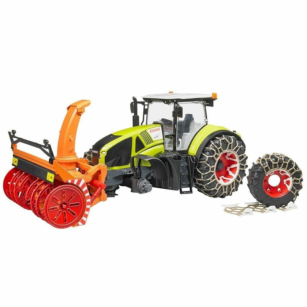 Bruder 03017  Trattore Claas Axion 950 spazza neve catene accessori  au prix le plus bas
