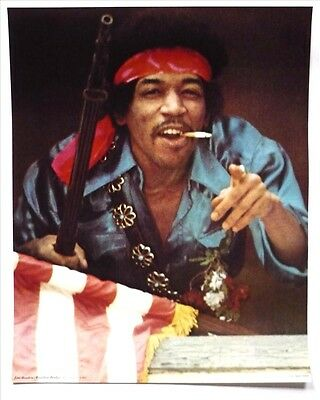 JIMI HENDRIX Rare Rainbow Bridge Poster 67x54cm 1st print Maui Hawaii USA 1971
