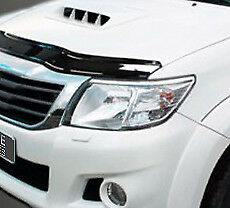 Bonnet Trim Hood Protector Bug Guard Wind Deflector To Fit Toyota Hilux (12-15)
