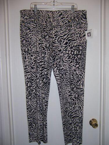 stampa NWT Sz Oyster Xl Shell nero Stunning pantaloni in donna e tessuto nBR0qRwFC