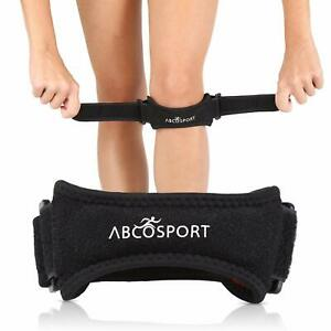 Abco Tech Patella Knee Strap Knee Pain Relief for Hiking Soccer Adjustable Black