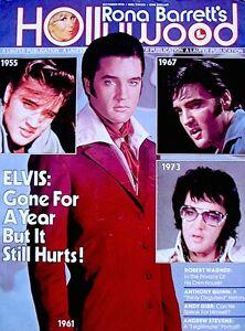 Elvis Presley Magazine 1978 Rona Barretts Hollywood Memorial Tribute Pinup Photo
