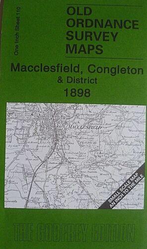 Old Ordnance Survey Maps Macclesfield Congleton Area /& Map Elworth 1898 S110 New