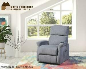 Deals On Power Lift Chair Grey Fabric (MZ96) Mississauga / Peel Region Toronto (GTA) Preview
