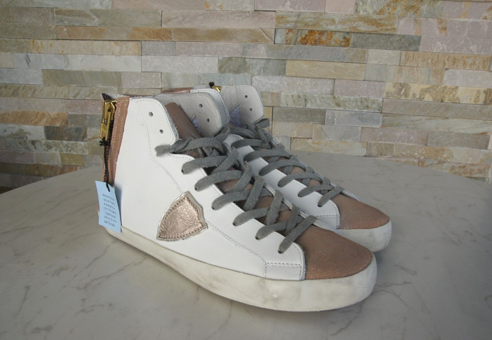 PHILIPPE PHILIPPE PHILIPPE MODEL Paris Gr 41 High Top Sneakers BIKE ALTA Schuhe NEU 9dfd0f