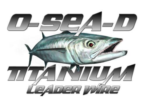 Bobine Noir Oxyde O-Mer-D Titanium Leader Wire Test 40 lb environ 18.14 kg 50 Ft environ 15.24 m