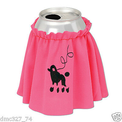 1 1950s Grease Sock Hop Party Favor Novelty Prop DRINK CAN Cover POODLE SKIRT 4""