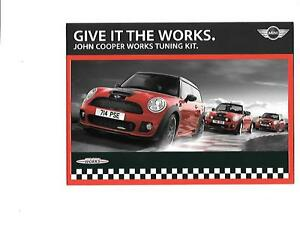 Mini John Cooper Works Tuning Kit Brochure October 2009 For 2010