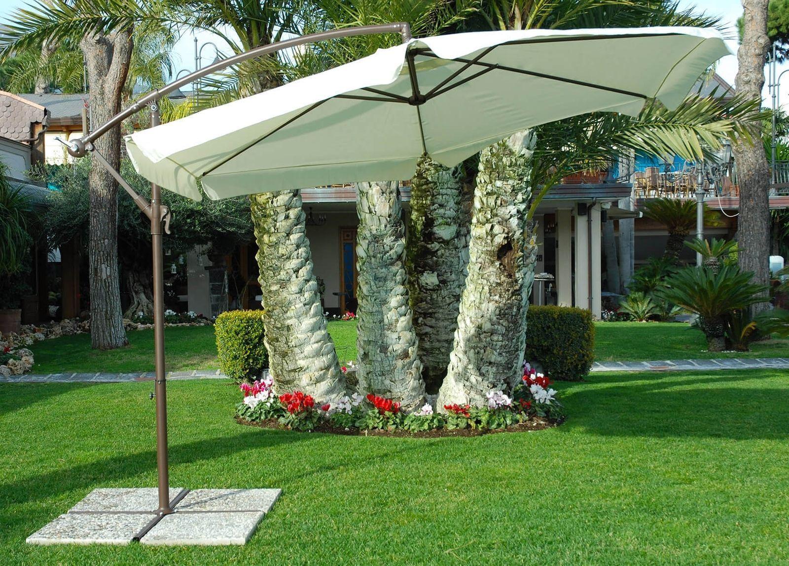 Ombrellone da giardino Luna diametro 3m Casa Esterno Famiglia Facile Montaggio