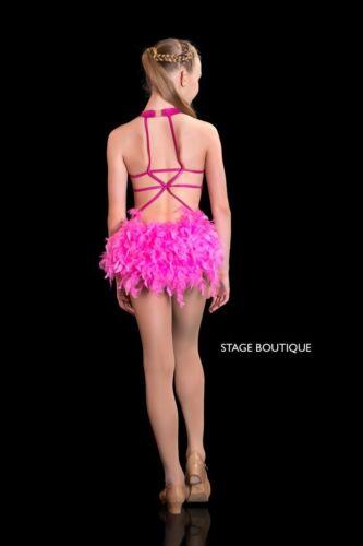 IN STOCK Deco Peacock /& Pink Cabaret Modern Jazz Tap  Dance Costume