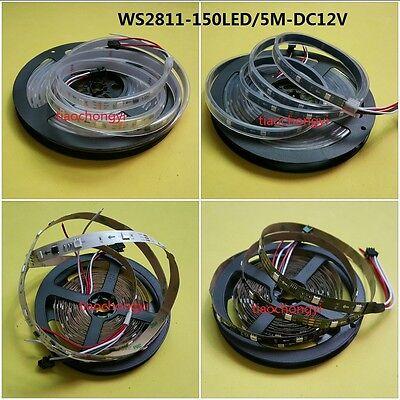 WS2811 5050 RGB LED Strip 5M 150 300 450Leds  Addressable DC12V