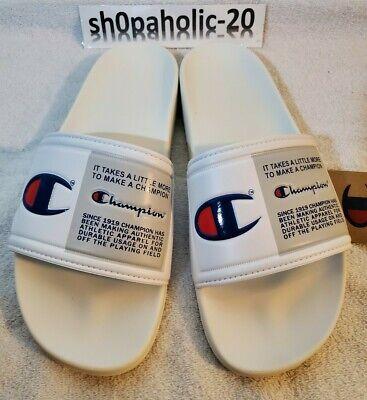 Mens Champion IPO Jock Slides Sandals sz 9 CM100144M