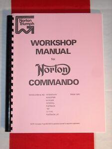 Shop Manual Fits Norton Commando 750 1970 1971 1972 1973 1974 no electric start