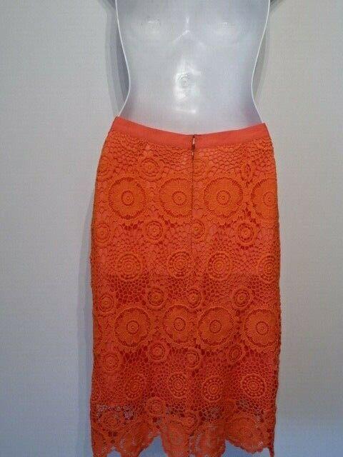 Yumi Kim Women's Lace Pencil Skirt Sz S NWOT 198 orange