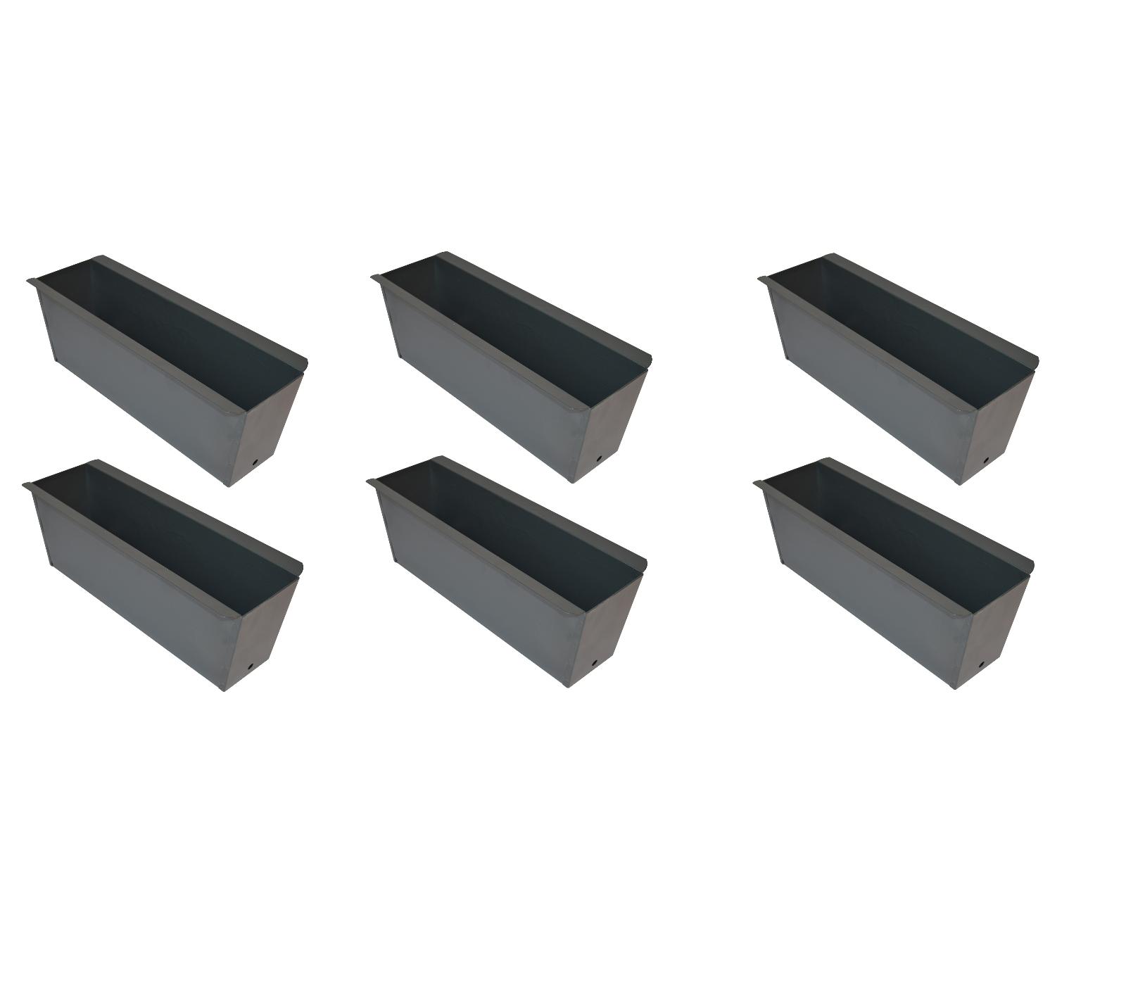 12x Blaumenkasten grau anthr. Balkonkasten Einsatz für Europalette Pflanzkasten