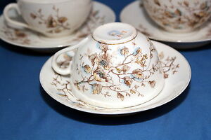 ANTIQUE-Marx-amp-Gutherz-Carlsbad-2557-59-Hand-Painted-c1890-Tea-Cup-amp-Saucer-Set