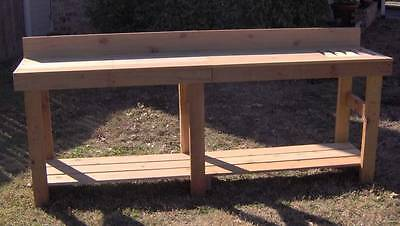 New 8 Ft Cedar Potting Bench Gardening Planter Benches Ebay