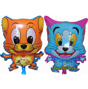 TOM JERRY MOUSE CAT BALLOON BIRTHDAY PARTY SUPPLIES DECOR