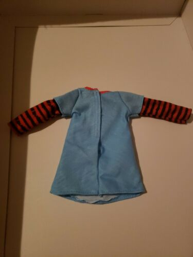 BARBIE DOLL CLOTHES LONG SLEEVE BABY BLUE ROCKABILLY DRESS FITS CURVY TOO