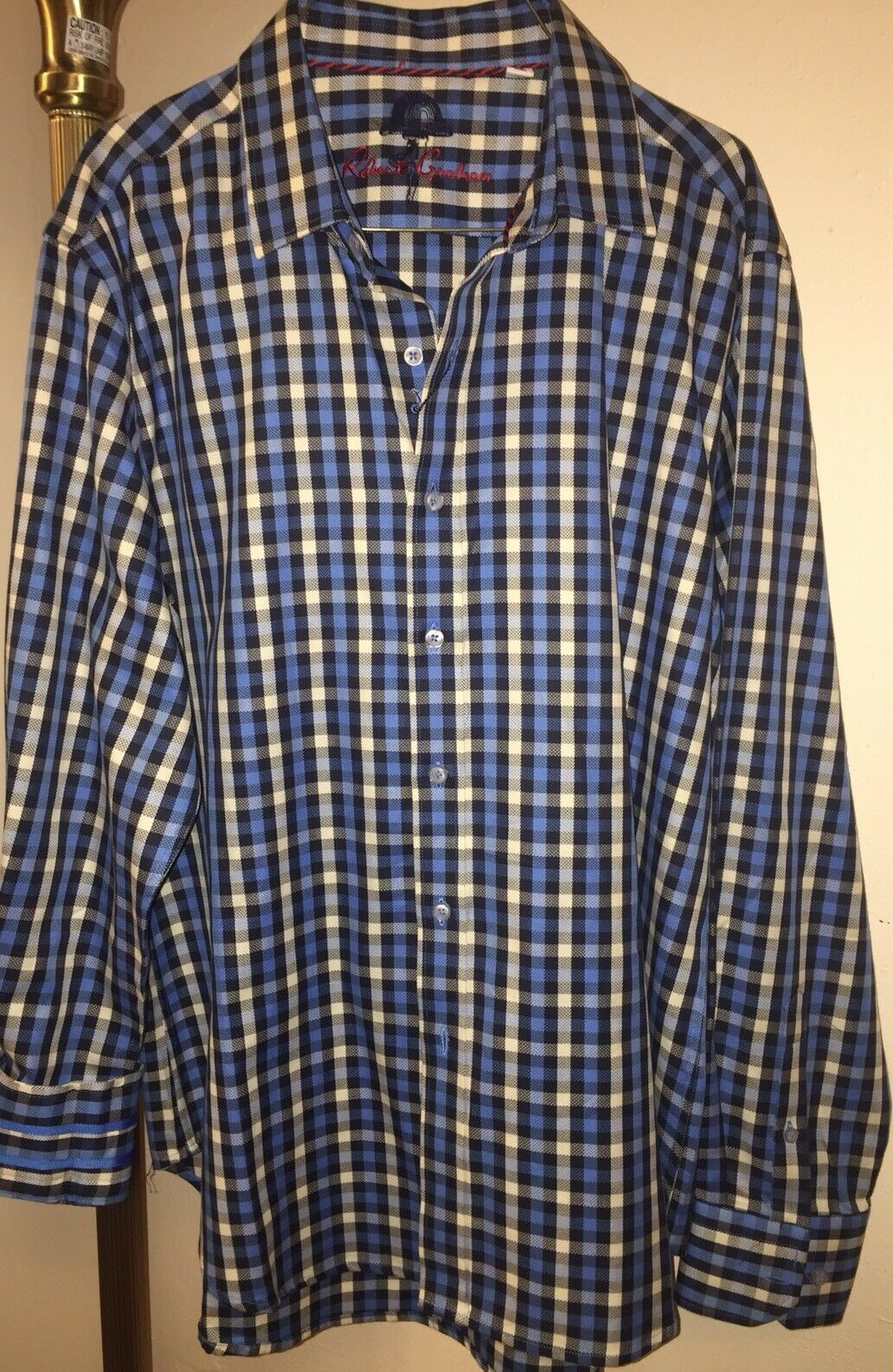 NWT Men's  Robert Graham Norton Folgate Button Down Shirt Sz L Classic Fit  40% off