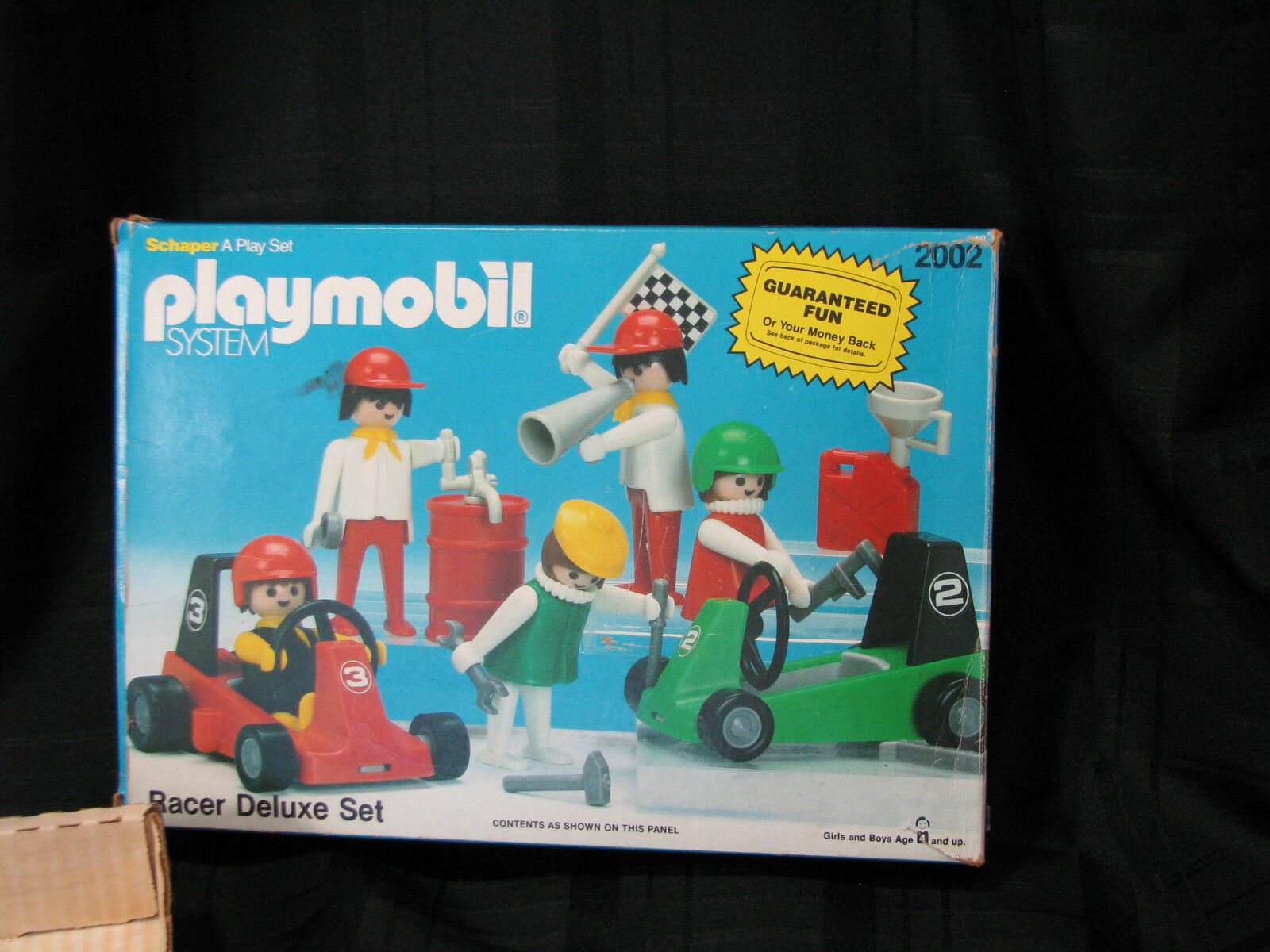 VINTAGE PLAYMOBIL 1980 1980 1980 RACER DELUXE SET SCHAPER MANUFACTURING COMPANY TOY cfd643