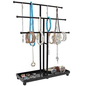 Jewelry-Holder-Display-Stand-Earring-Tree-Hanger-Necklace-Storage-Rack-Metal-New