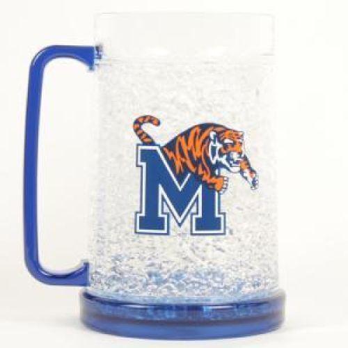 NCAA Memphis Tigers 16oz Crystal Freezer Mug