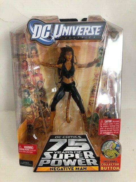 DC Universe Cheetah Scarce Error Toy Packaging Mistake Negative Man 2009 MIB