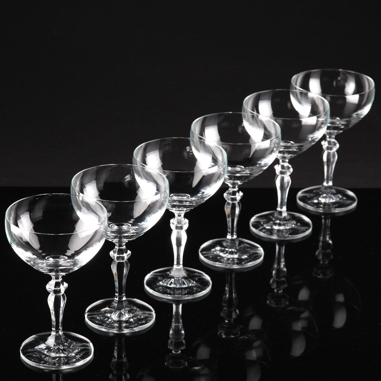 6 Trinkgläser Sektschalen Sektgläser Champagnergläser Champagnergläser Champagnergläser Kristall Gläser W6C 5fc483