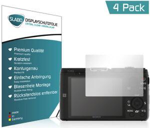 Slabo-Displayschutzfolie-fuer-Sony-DSC-HX60-4er-Set-KLAR-034-Crystal-Clear-034