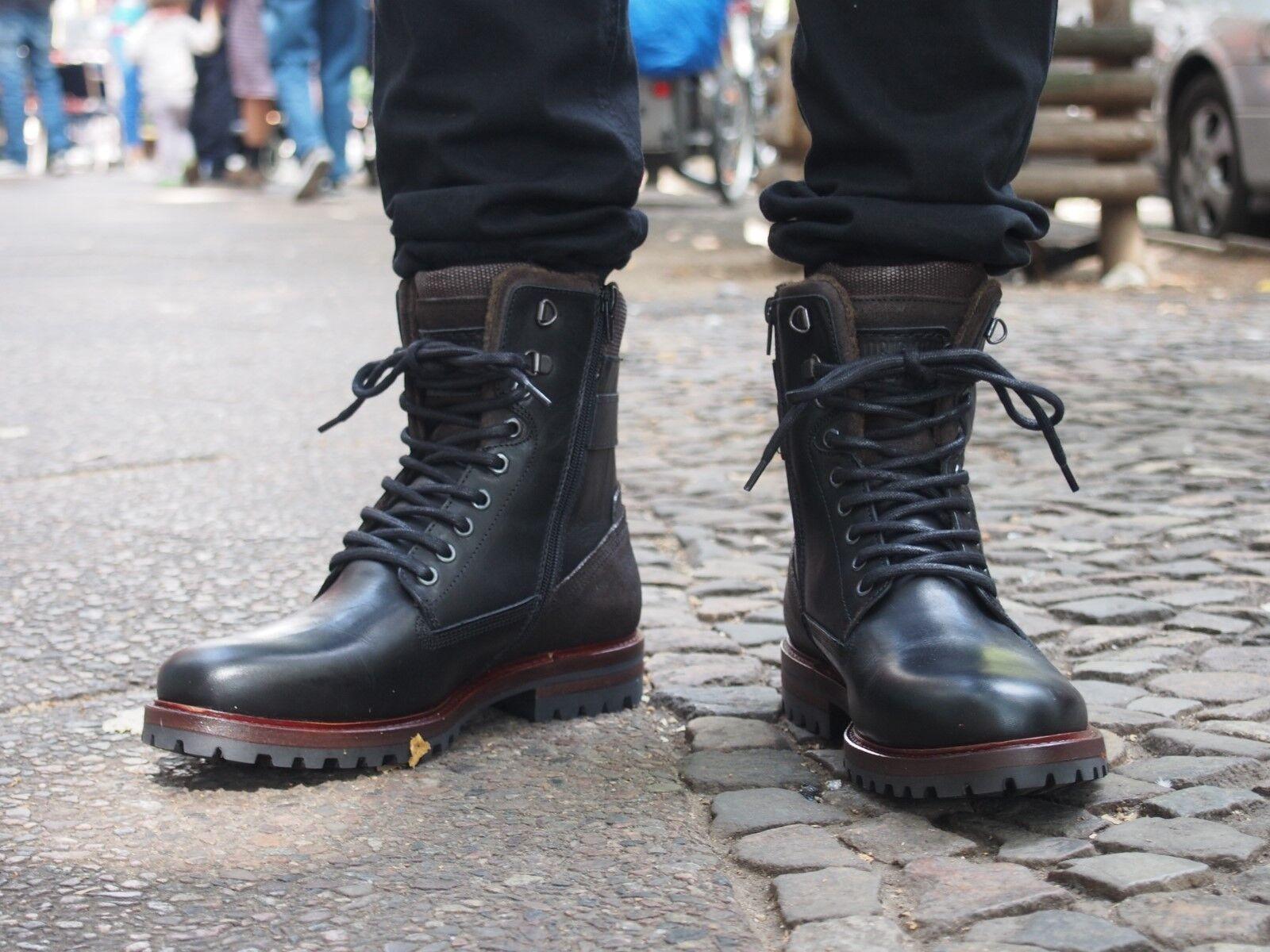 Bullboxer Schuh 43 braun schwarz Herrenschuh 632 schwarz