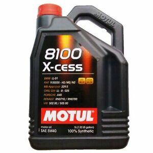 MOTUL-OLIO-8100-X-CESS-5W40-GM-OPEL-BMW-PORSCHE-VW-RENAULT-BENZINA-DIESEL-5L