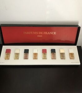 Rare-Vintage-Perfume-De-France-Bernard-Lalande-8-Mini-Perfume-Set-12-5-ml-New