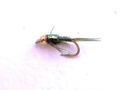 Box Selection Gold-head Nymphs Trout Fishing Flies Copper John Assortment