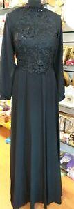 Women-039-s-Kaftan-Jilbab-Islamic-Muslim-Abaya-Long-Sleeve-Cocktail-Party-Maxi-Dress