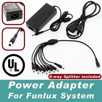 8 Port 12v 5a Dc Power Adapter For Funlux Security Cameras Cctv Security Dvr Ul