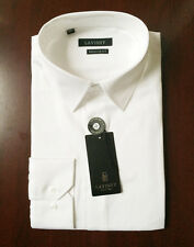 NWT 100% Cotton Men's White Dress Shirt Size M Regular Fit Office Essential Wear
