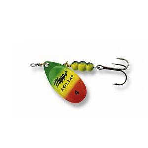 Mepps Aglia Tiger Spinner grün//gelb//rot alle Größen zur Auswahl Raubfisch-Shop